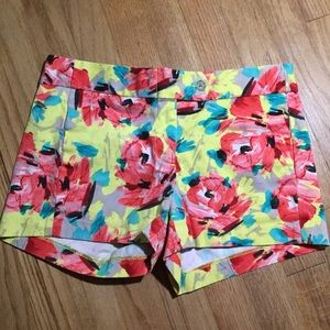 J. Crew Shorts - J Crew yellow floral shorts - size 0
